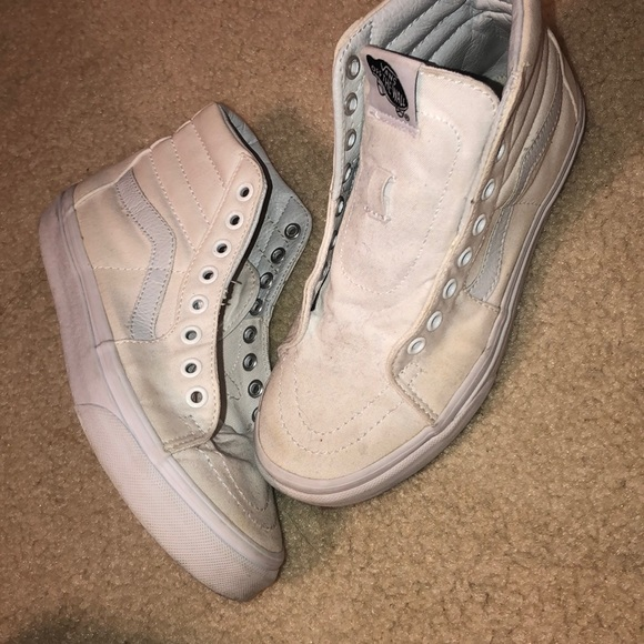 Vans Shoes | White High Top Vans With